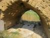 Particolare dell'arco del Ponte Romano