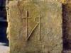 Basilica di San Leucio, Antiquarium - Mattone con il monogramma del vescovo Sabino (514-566)